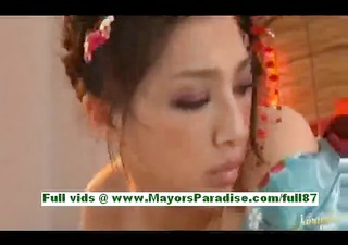 saori hara excited asian wife in sofa gets a